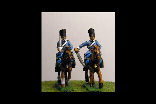 Dragoons at Rest in Covered Shako & Litewka