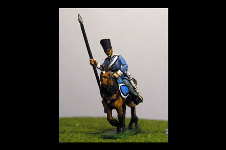 Dragoon Standard Bearer in Covered Shako & Litewka