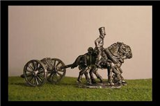 Foot artillery Limber with 2 horses and 1 rider