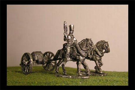 Horse artillery Limber  with 2 horses and 1 rider