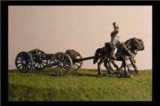 Foot artillery Limber  with 2 horses and 1 rider & 6lb Gun or your choice of caliber