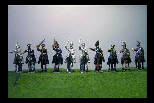Prussian Personality Set Waterloo, Blucher, Gneisenau, Zieten, Pirch I, Thieleman, Bulow, Schwerin & 3 ADCs