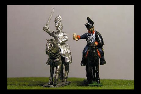Coronel Schwerin & ADC (Brigade Commander IV Corps Waterloo)