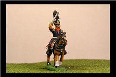 Infantry or Cavalry General in shako with plume & chords, jacket x2