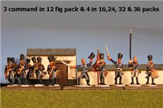Prussian Line Infantry Advancing with Command 12 figs