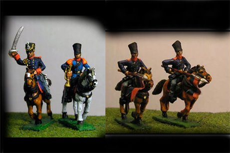 Uhlans Charging in Covered Shako & Litewka