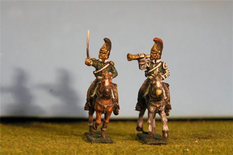 Dragoons Command x4 (2 Trumpeters & 2 Officers)