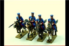 Cossacks in Cap Charging with Lance (Ural, Don or others) x 4 (separate lances)