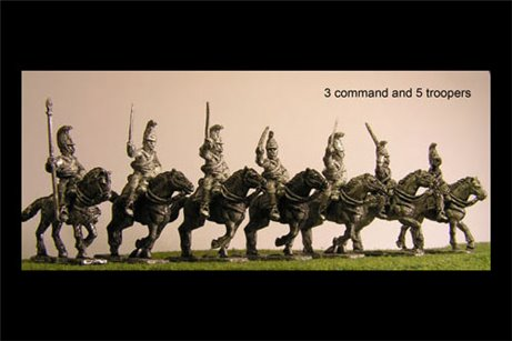Cuirassiers Charging with Command x 8 figures