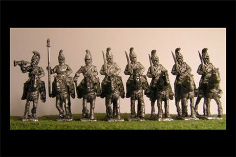 Cuirassiers at Rest  with Command x 8 figures