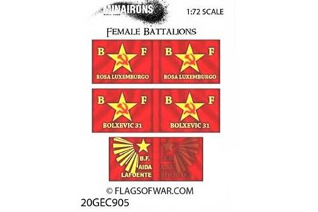 Female Battalions Flags