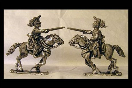 French Cuirassiers Charging 3 (One piece Casting x2)
