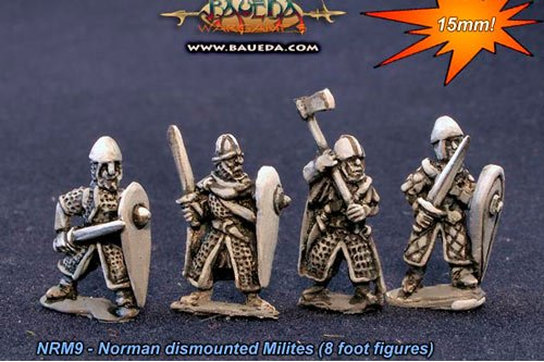 Norman dismounted Milites (8 Figures)