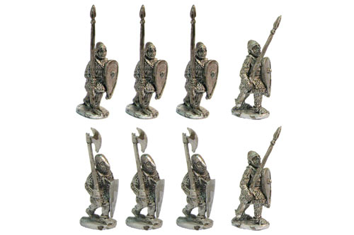 Heavy infantry, spear upright, XII Century