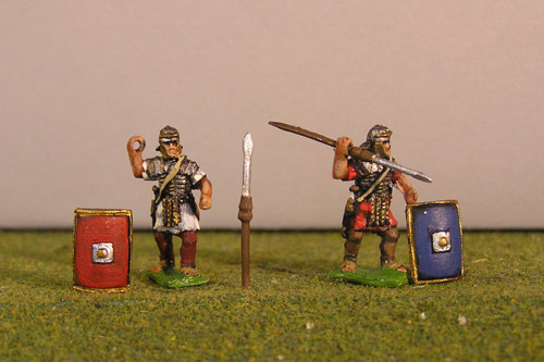 Legionary Throwing, includes pilums and shields.