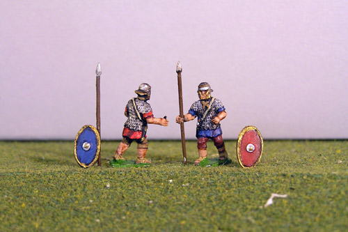 Auxiliary Advancing. Separate spears and shields included.