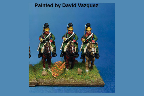 1st Chasseurs à Cheval at Rest at Waterloo in Helmet x4