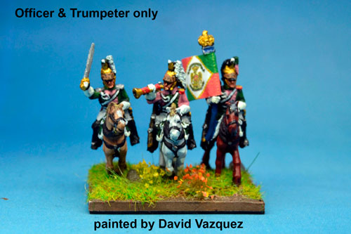 Italian Queen's (Regina) Dragoons Command (Trumpeter x2 and Officers x2)