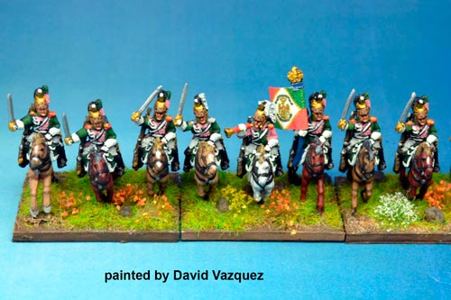 Italian Queen's (Regina) Dragoons Charging