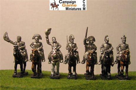Napoleon, 4 Marshals & 2 ADCs mounted