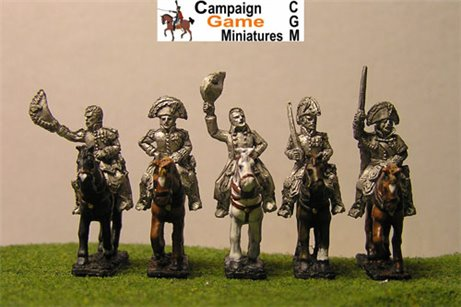 Napoleon, 4 Marshals &mounted