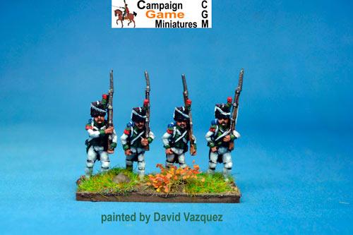 Italian Guard Velite Chasseurs/Carabinier (Veliti Reale) Marching.