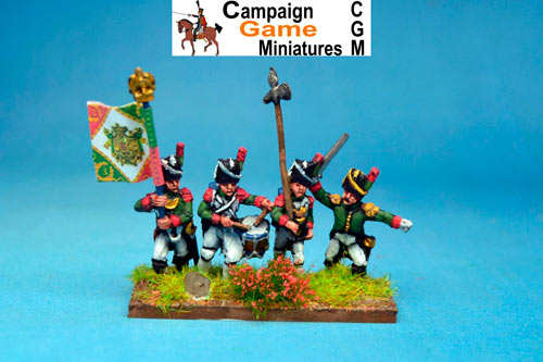 Italian Guard  Chasseurs (Reale) Command Marching/Advancing