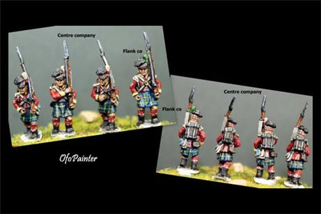 Peninsular Scottish infantry in Kilts Marching 12 figs