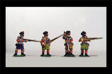 Peninsular Scottish infantry in Kilts Skirmish/Firing Line 12 figs
