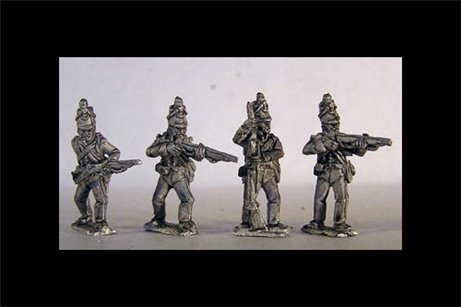 British Riflemen Firing Line / Skirmish 12 figs