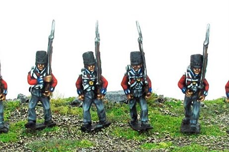 British / KGL Line Infantry Marching Covered Shako 12 figs