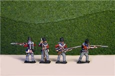 British / KGL Line Infantry Firing/Skirmish Covered Shako12 figs