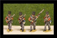 Peninsular British / KGL Line Infantry Advancing Covered Shako 12 figs (1813-15)