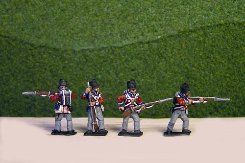 Peninsular British / KGL Line Infantry Firing/Skirmish Covered Shako12 figs (1813-15)