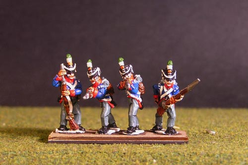 Orange Nassau Skirimish Flank company (8 figures, 4 variants including sergent)