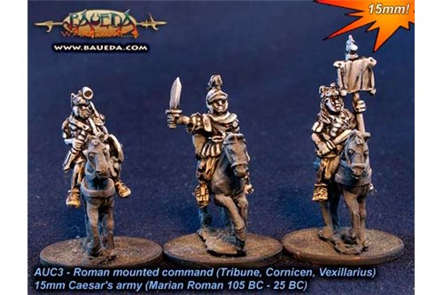 Roman mounted command (Tribune, Cornicen, Vexillarius) x4 figures