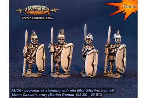 Roman Legionaries standing with pila