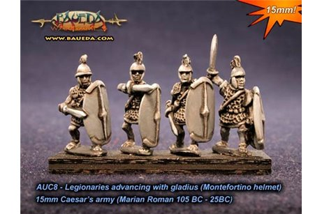 Roman Legionaries advancing Montefortino helmet