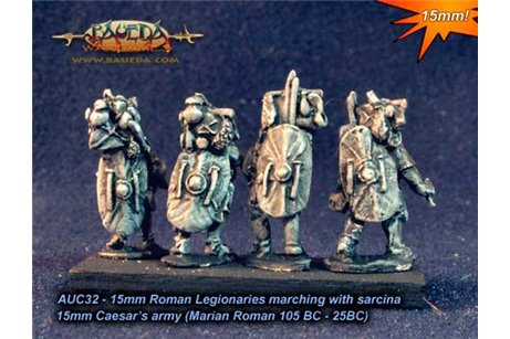 Roman Legionaries marching with sarcina x8