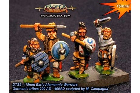 Early Alamannic Warriors x8