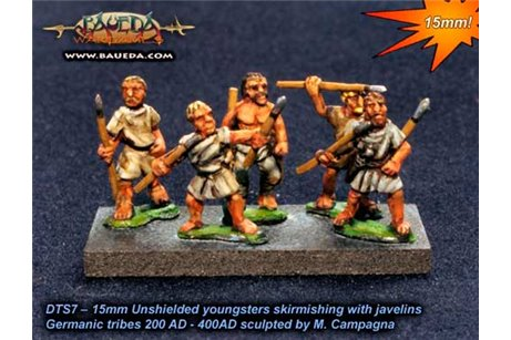Unshielded Adolescent Skirmishers with javelins