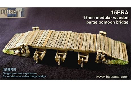 A modular barge bridge set