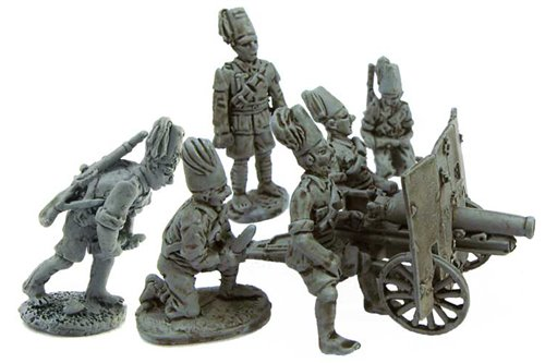 Askaris Artillery  crew for 65/17 canno (six different miniatures)