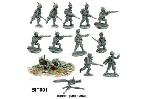 Blister of Alpini mixed in different figures (12 pieces)