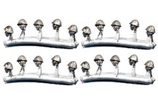 Convertion pack with heads with metal helmet for infantry (20 pieces)