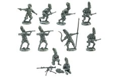 Eritrean モAskarisヤ in various positions at post Fiat Revelli model 14 machine gun (10 pieces & post).
