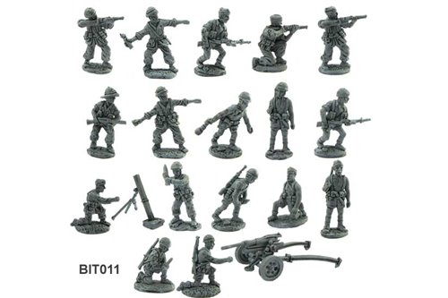 Folgore ( 18 differenti miniature + un cannone 47/32)