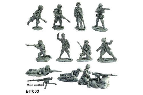 Line Infantry 1940-1945 in different position (12 pz)