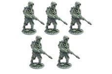 Line Infantrymen marching, full pack
