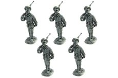Parachutists, R.E, R.S.I, X MAS, R.N.G, Black brigades, with Breda 30 machine gun, marching